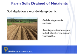 Soil Depletion