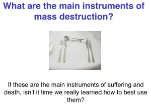What are the main instruments of mass destruction?